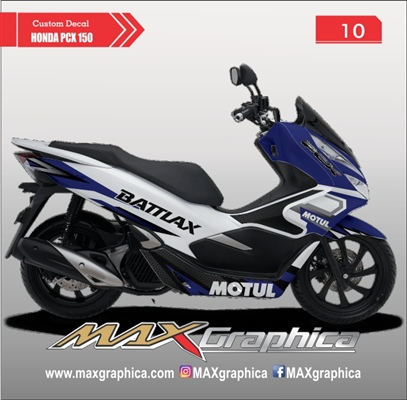 decal pcx biru putih cutting sticker sidoarjo