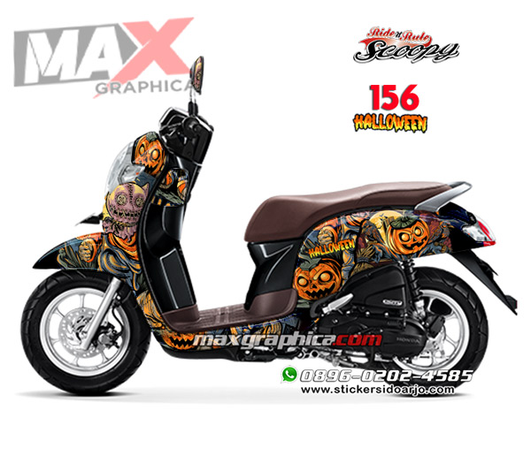 decal scoopy hitam maxgraphica cutting sticker sidoarjo
