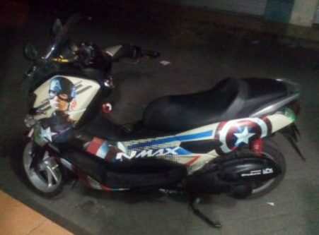 decal nmax captain america maxgraphica cutting sticker sidoarjo